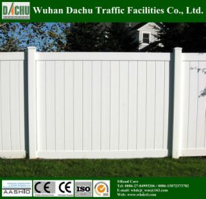 White Vinyl Privacy Fence Panel pictures & photos