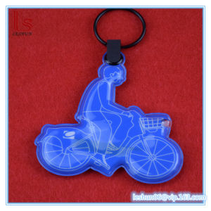 Custom Soft Reflector Reflective LED Tag PVC Keychain pictures & photos