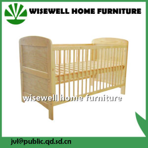 Pine Wood Infant Cot for Baby Room Furniture pictures & photos