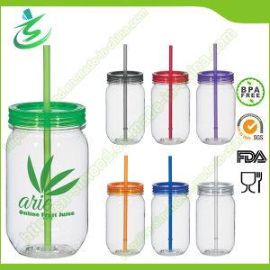 20oz BPA-Free Single Wall Mason Jar with Straw (MJ-F1) pictures & photos