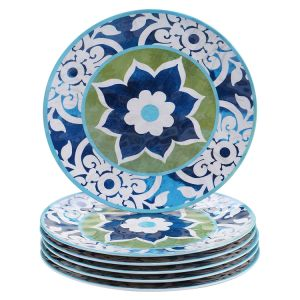 Western Design Melamine Dinner Plate Dinnerware Multicolored for Spain pictures & photos