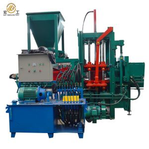 Qt4-20c Semi Automatic Hydraulic Concrete Cement Sand Interock Paving Block Making Machine pictures & photos