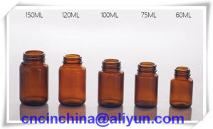Amber Glass Bottles for Tablet Wide Mouth Gpi 400 pictures & photos