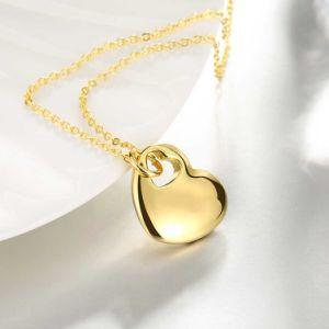 Fashion Two Heart Shape Gold Pendant Necklace Zinc Alloy Material Pendant pictures & photos