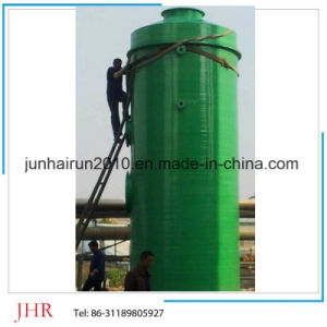 High Efficieny Vertical Exhaust Scrubbing Tower with Packing pictures & photos