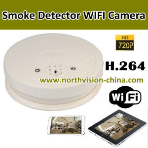 wifi camera in smoke detector with 720p hd h 264 for long distance wireless security monitor. Black Bedroom Furniture Sets. Home Design Ideas