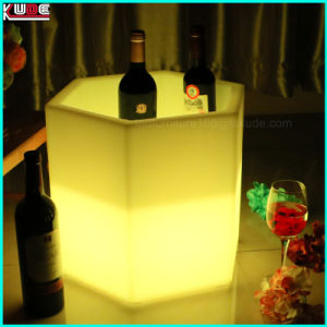 LED Lighting Hotel Plastic Furniture Beer Wine Cooler pictures & photos