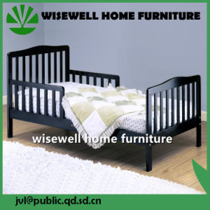 Pine Wood Children Single Bed in Black Color (W-B-0060) pictures & photos