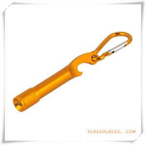 Aluminum LED Flashlight with Bottle Opener and Carabiner pictures & photos