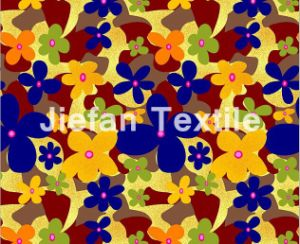 60GSM Flowers Design Polyester Fabric