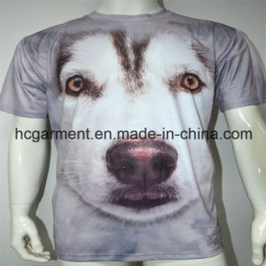 Man′s 3D Sublimation Printed Round Neck T- Shirts pictures & photos