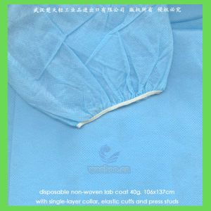 Disposable Medical Lab Coat with Open Cuffs or Elastic Wrists pictures & photos