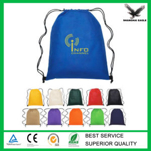 Promotional Waterproof Polyester Drawstring Backpack pictures & photos