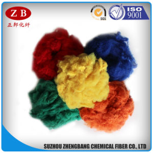 100 Recycled Polyester Staple Fibre 1.5D*51mm Raw Material for Spinning and Yarn