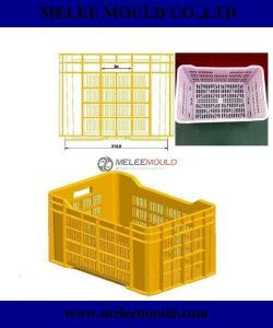 Melee China Plastic Injection Custom Crate Mould pictures & photos
