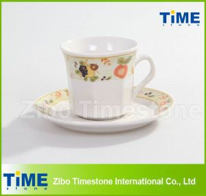 Porcelain 200CC Cup and Saucer / Coffee Cup With Saucer (91006-001) pictures & photos