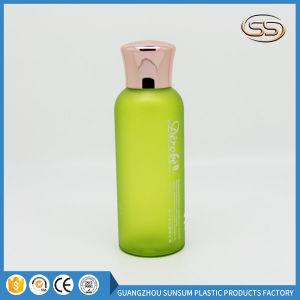 Facial Toner Plastic Shampoo Bottle with Gold Chrome Screw Lid pictures & photos