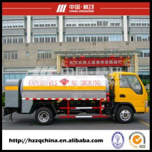 4000lcarbon Steel Q345oil Tank Truck (HZZ5060GJY) Convenient and Reliable pictures & photos