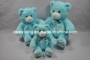 Plush Big Sitting Blue Teddy Bears with Soft Material pictures & photos