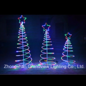 Christmas LED Rope Spiral Tree Lights with CE RoHS SGS pictures & photos