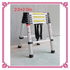 Aluminum Telescopic Ladder /Household Ladder (DLT506) pictures & photos