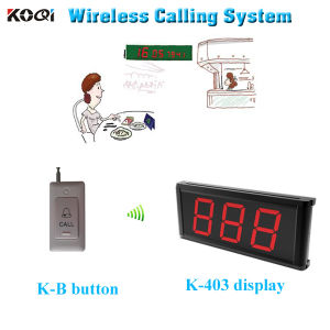 Wireless Calling System Transmitter Receiver Display K-403 Singel-Key Button K-B pictures & photos