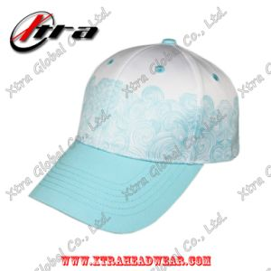 Polyester Spindrift Pattern Printing Baseball Caps Magic Tape Closure pictures & photos