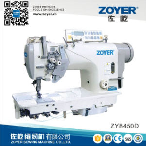 Zoyer High Speed Double Needle Lockstitch Industrial Sewing Machine (ZY8450D) pictures & photos