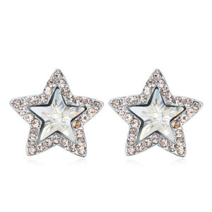 Wholesale Star Design Crystal Alloy Cute Earrings
