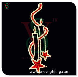 LED Christmas Candle Motif Light for Pole Decoration pictures & photos
