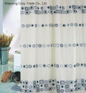 Circle Design Fabric Polyester Shower Curtain pictures & photos