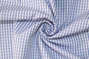 Skyblue/White Classical Checks Plain Polyester Cotton Shirt Fabric pictures & photos