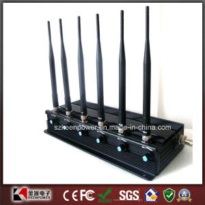 6 Antenna Adjustable Cell Phone Jammer & WiFi + UHF Jammer pictures & photos
