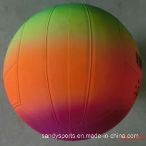 Colorful PVC Inflatable Rainbow Volleyball pictures & photos