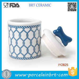 Hot Navy Blue Design Food Storage Ceramic Pet Bottle pictures & photos