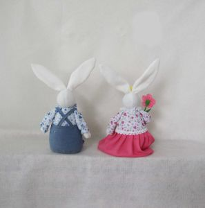 "26""H Boy and Girl Bunny Sitter Easter Decoration-2 Asst pictures & photos"