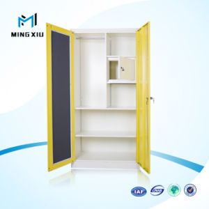China Made Manufacture Steel Bedroom Wardrobe Cabinet Locking Clothing Cabinet pictures & photos