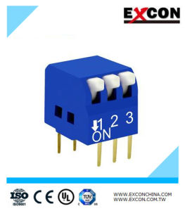 Micro DIP Switch Excon Rpl-03-B with 3 Positions