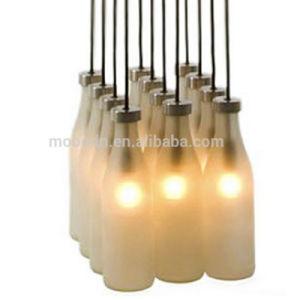 Modern Design Child Cute Creative Jar White Hand Blown Milk Bottle LED Glass Pendant Light for Bar and Club