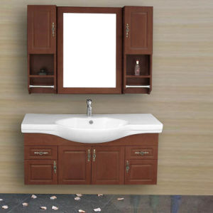 Wall-Mounted Melamine or Plywood Board Bathroom Cabinet pictures & photos