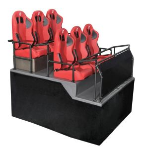 6dof Pneumatic Dynamic Platform with 6 Seats 5D Theater