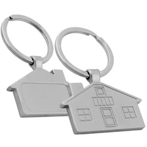 Promotion House Laser Logo Low Price Gifts Metal Keyring (F1033)