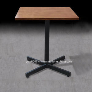 China metal base wood top square coffee table china for Metal coffee table base