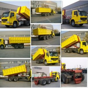 Cnhtc 30t Load Hook Arm Garbage Truck with Detached Bin pictures & photos