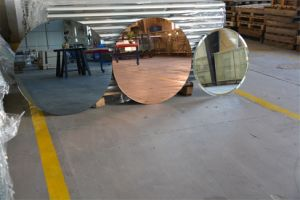Sliver Tempered Mirror Shelf with Polished Edge for Bathroom, Wash Basin Mirror pictures & photos