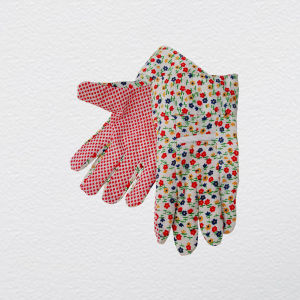 PVC Dotted Jersey Cotton Garden Work Glove with Knitted Wrist pictures & photos