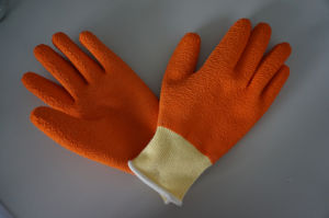 10g High Grade Polyester Shell Latex Fully Coated Safety Work Glove (L1105) pictures & photos