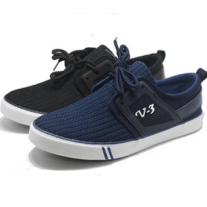 V 3 Knit Weave Fation Canvas Casual Men Leisure Shoes pictures & photos