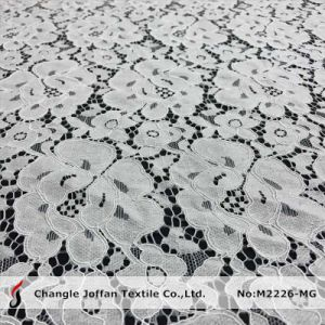 Offwhite Cotton Fabric Lace for Wedding Dresses (M2226-MG) pictures & photos