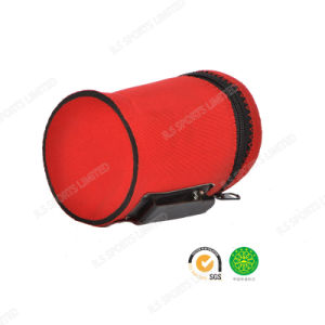 Fit Belt Neoprene Cola Can Holder with SGS Certification with Zipper in Red